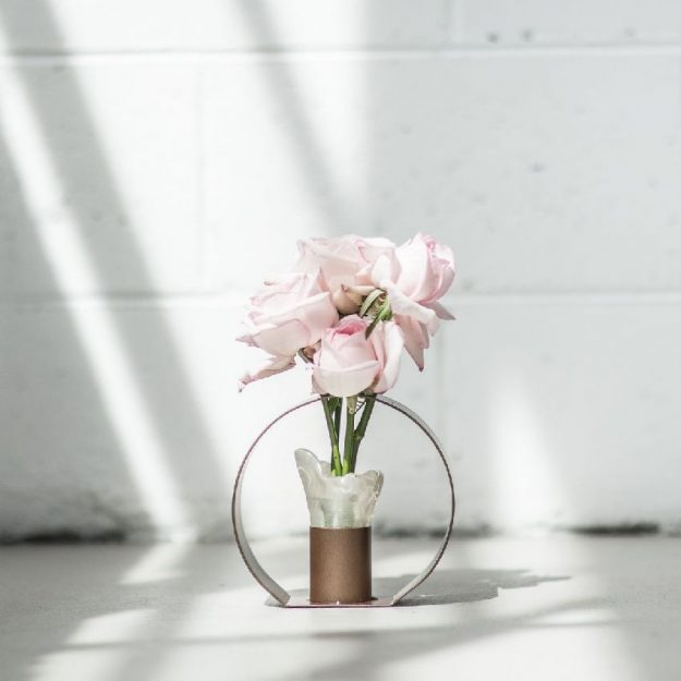 Small Glass Vase on Stand Kesha Designed by Anna Vasily