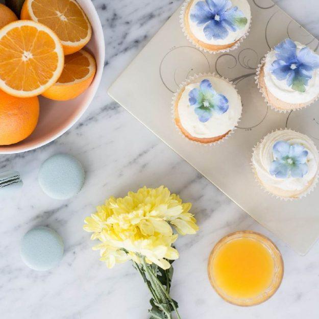 Beige Floral Dessert Plates Lane by Anna Vasily