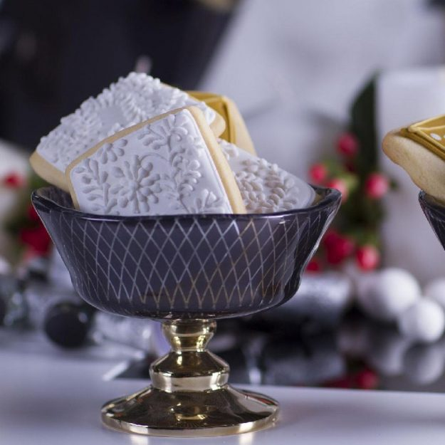 Designer Blue Dessert Bowl Lilla by Anna Vasily