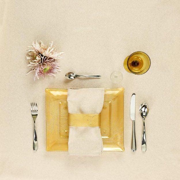 Rectangular Gold Dinner Plates Lois Designed by Anna Vasily