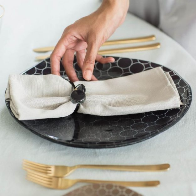 Magda Organic Navy Blue Modern Dinnerware