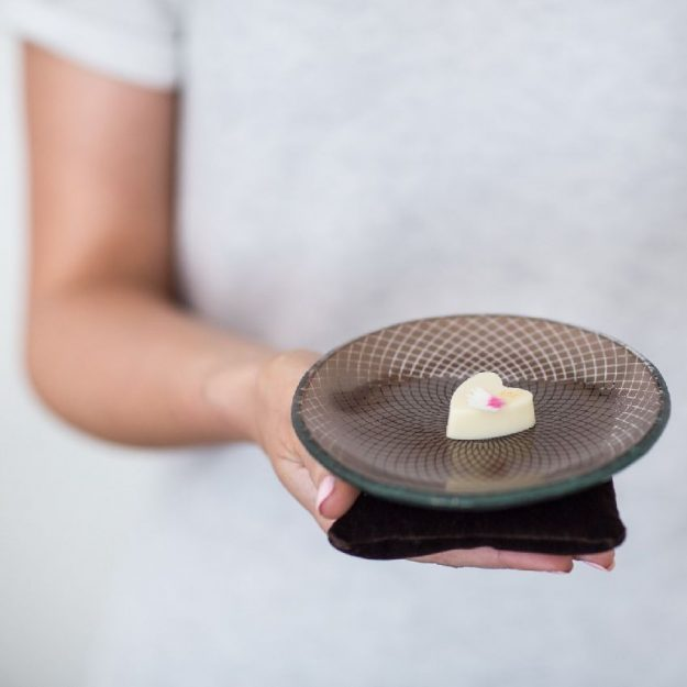 Brown Petit Fours Plate Mela by Anna Vasily