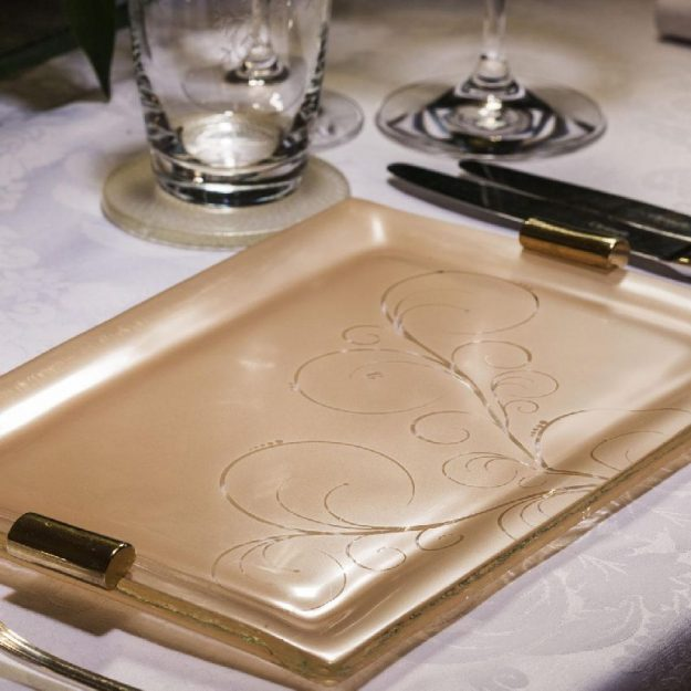 Rose Gold Charger Plate Designed by AnnaVasily