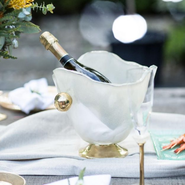 Luxurious Gold Champagne Ice Bucket Sharmi by Anna Vasily
