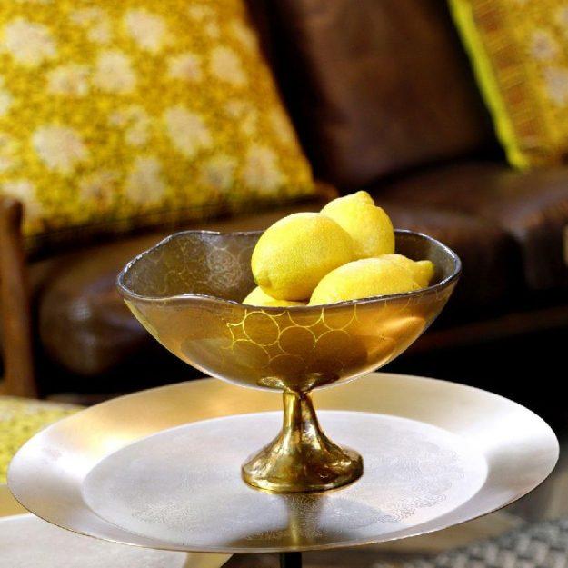 Glass Fruit Bowl Via by Anna Vasily