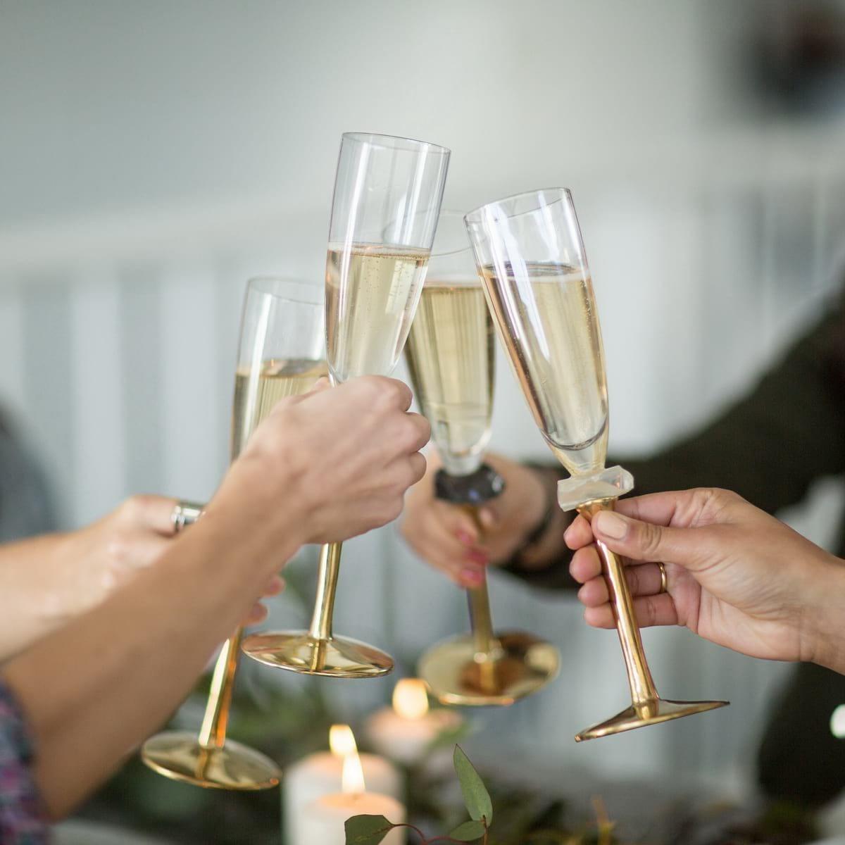Elegant champagne glasses
