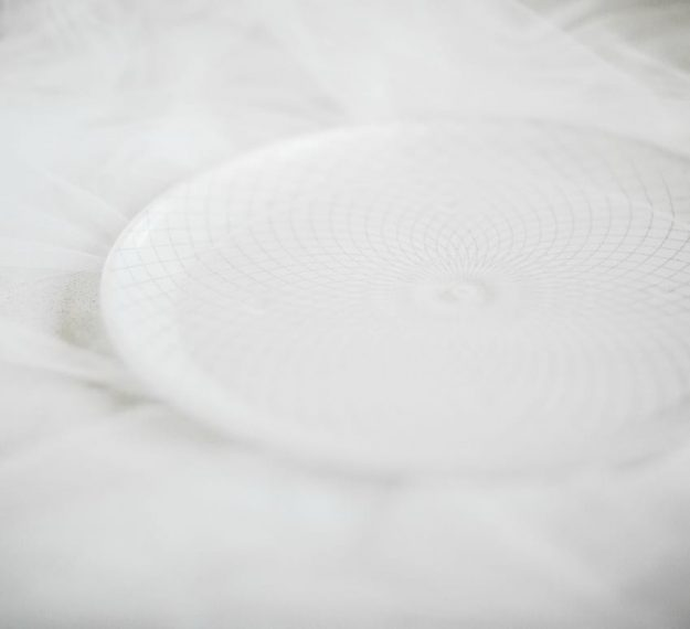 Kelly White Dinnerware With a Classic Pattern by Anna Vasily