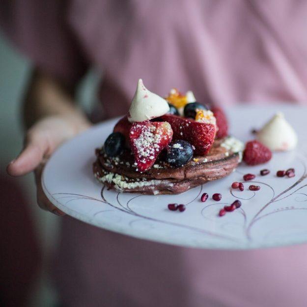 Rona Set of 2 Unique Dessert Plates by Anna Vasily