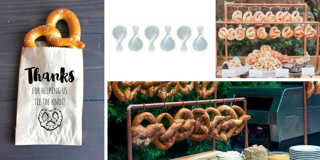 Wedding trends 2018 with a wedding pretzel station and AnnaVasily dinnerware