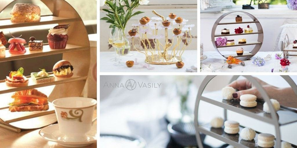 Unique wedding gift idea with modern high tea stands by AnnaVasily