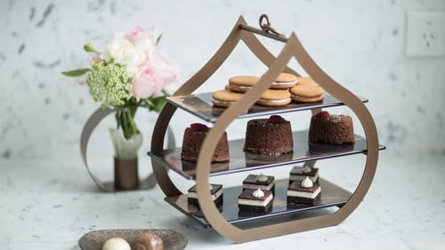 Unique 3 tier high tea stands for afternoon tea parties and dessert display with the tier stand Teo by Anna Vasily.