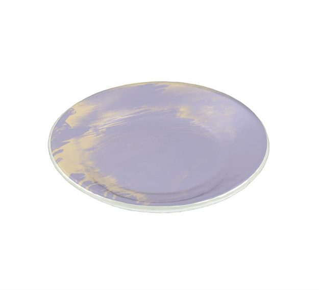 Purple Glass Plates - Anthe Handmade Glass Side Plate | AnnaVasily - 3/4 View