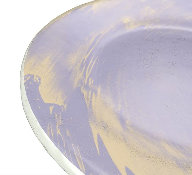Purple Glass Plates - Anthe Handmade Glass Side Plate | AnnaVasily - Detail View