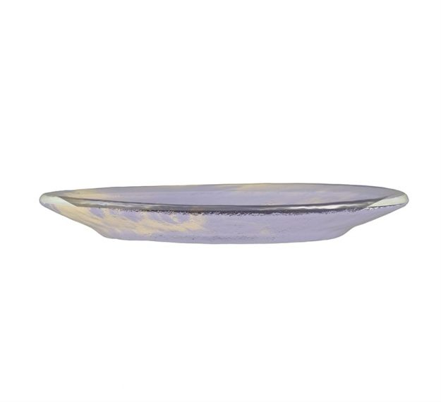 Purple Glass Plates - Anthe Handmade Glass Side Plate | AnnaVasily - Side View