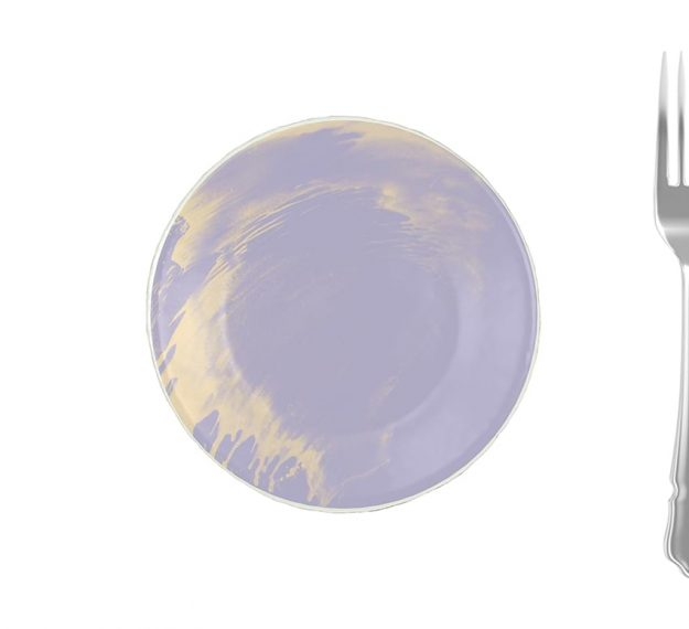 Purple Glass Plates - Anthe Handmade Glass Side Plate | AnnaVasily - Measure View