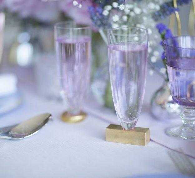 Unique Stemless champagne flutes