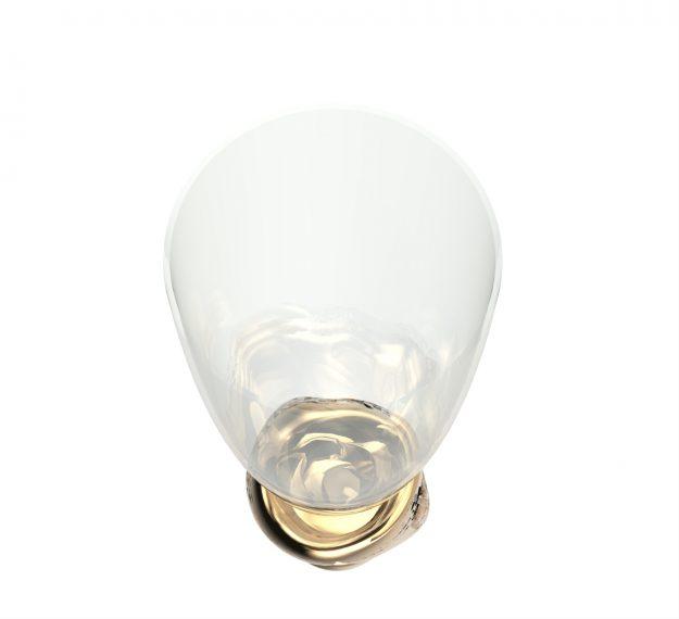 Stemless Champagne Glasses - Celes Set/2 Stemless Glasses | AnnaVasily - Top View