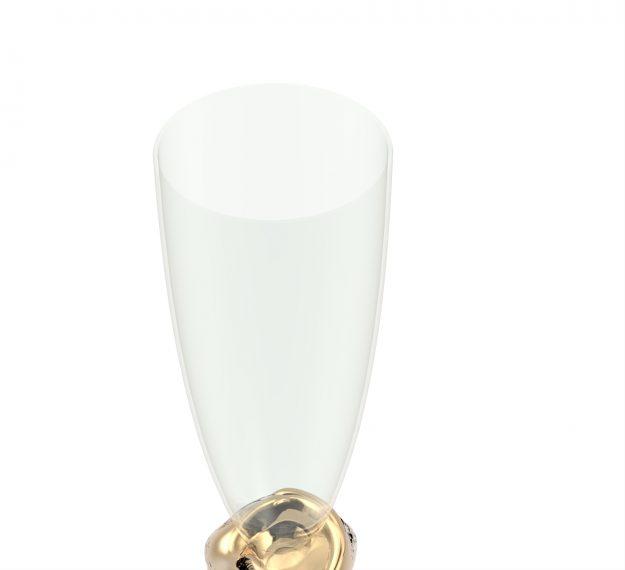 Stemless Champagne Glasses - Celes Set/2 Stemless Glasses | AnnaVasily - Detail View