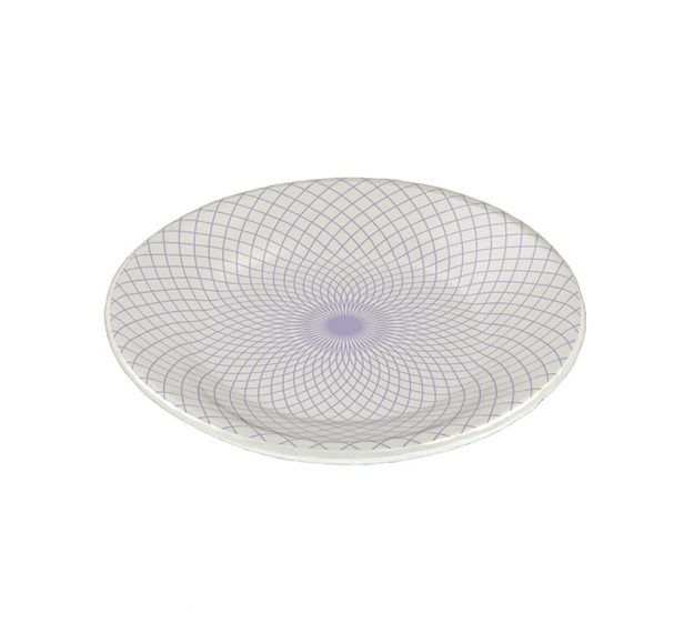 Patterned Plates - Chere Set/6 Decorative Salad Plates | AnnaVasily - 3/4 View