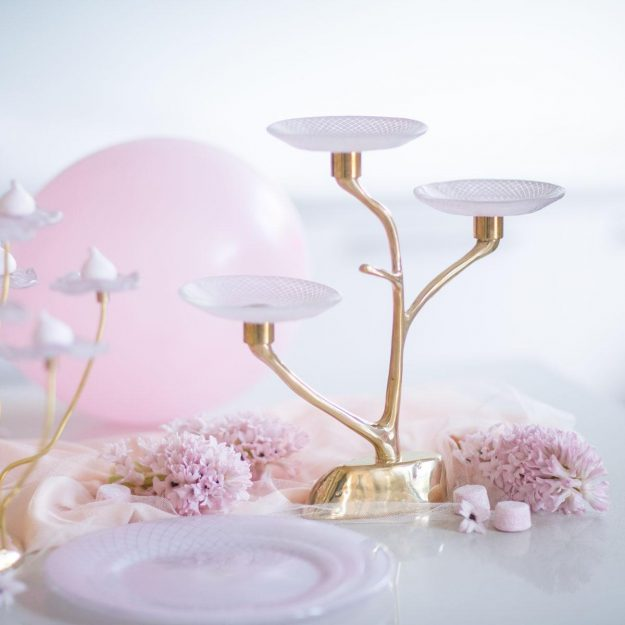 Frana Handmade Pink 3 Tier Cake Stand With Plates