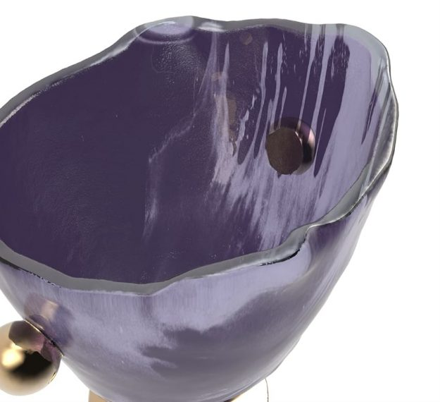 Purple Ice Bucket - Ili Wine Bucket | AnnaVasily - Detail View
