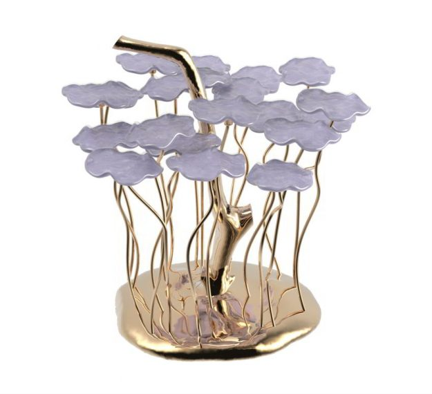 Purple Dessert Stand - Iphi High Tea Plate Stand | AnnaVasily - 3/4 View