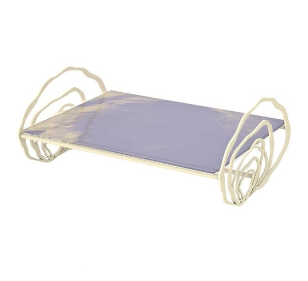 Lilac Cake Stand - Korr Rectangular Cute Cake Stand | AnnaVasily - 3/4 View