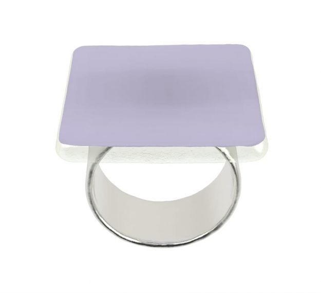 Purple Napkin Rings - Medo Lilac Napkin Ring Holders | AnnaVasily - 3/4 View
