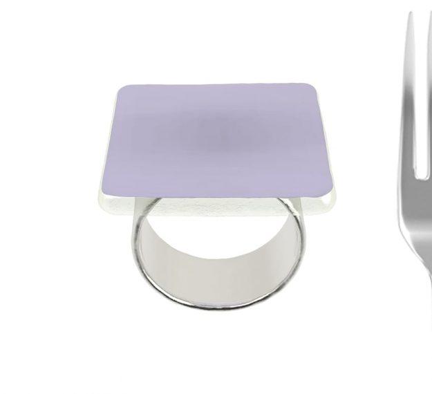 Purple Napkin Rings - Medo Lilac Napkin Ring Holders | AnnaVasily - Measure View