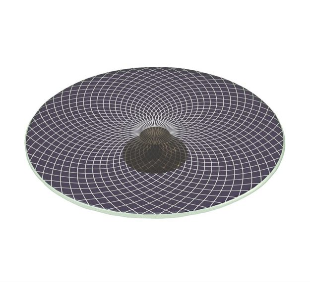 Purple Glass Cake Stand - Parthe Footed Cake Stand | AnnaVasily - 3/4 View