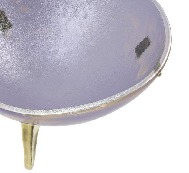 Decorative Glass Bowls - Photi Purple Modern Fruit Bowl | AnnaVasily - Detail View