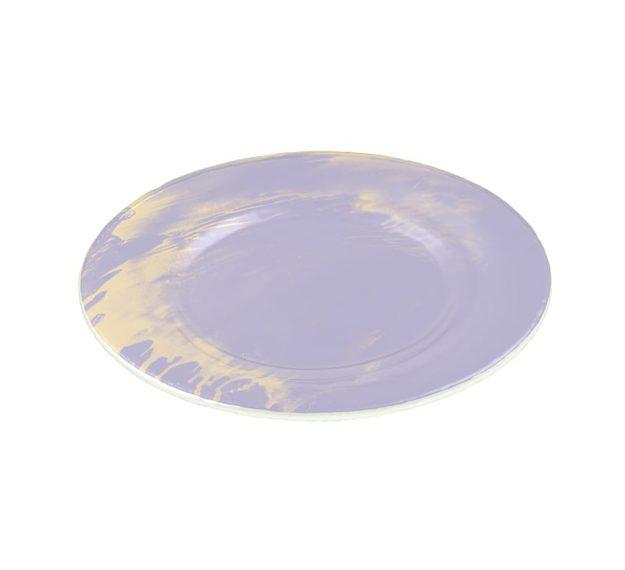 Violet Plates - Sostra Set/4 Light Purple Glass Plates | AnnaVasily - 3/4 View