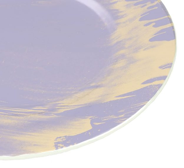 Violet Plates - Sostra Set/4 Light Purple Glass Plates | AnnaVasily - Detail View