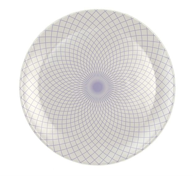 Patterned Dinner Plates - Staffo Set/4 Violet Plates | AnnaVasily - Top View