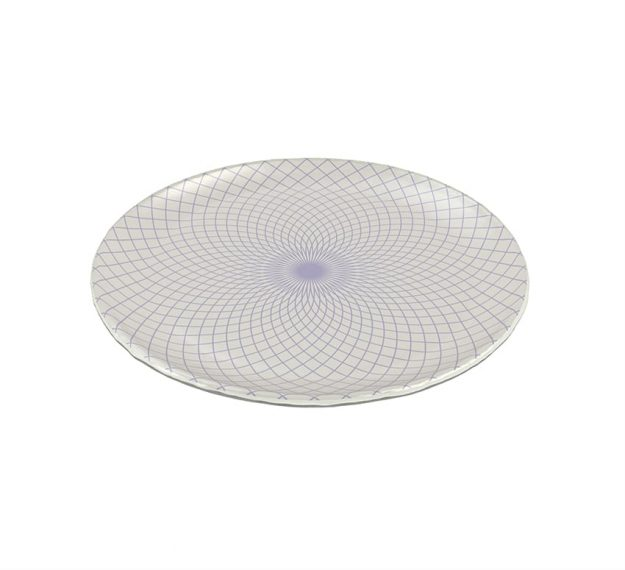 Patterned Dinner Plates - Staffo Set/4 Violet Plates | AnnaVasily - 3/4 View