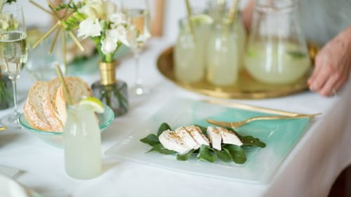 Designer dinner plates with a square dinner plate Megan by Anna Vasily.