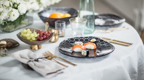 Designer dinnerware & dinner sets for stylish table settings by Anna Vasily.