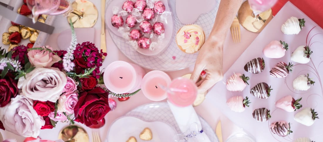 Galentine's Day Party - Get Galentine's Day ideas for a pink table setting!